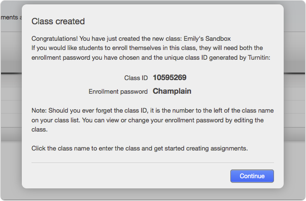 Adding your Champlain Course to the Turnitin Website