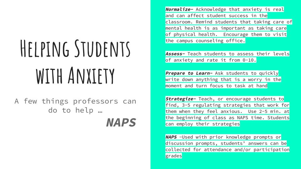 Infographic with details about the NAPS method.